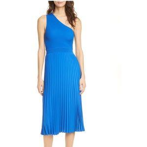 NWT Ted Baker Miriom One Shoulder Knit Midi Dress